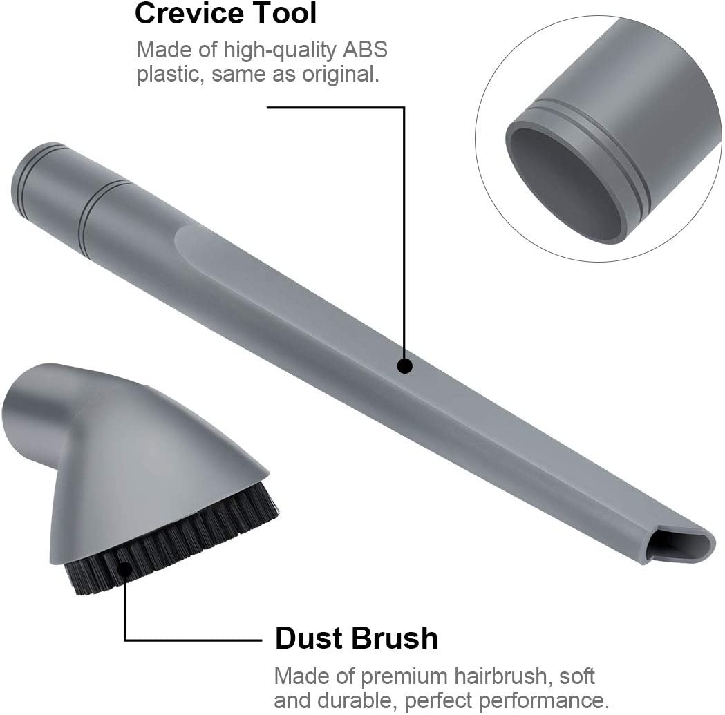 Crevice Tool For NV350 352 355 Gray New 2Pcs//set Practical Vacuum Parts