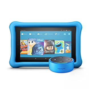 Echo Dot Kids Edition + Fire 7 Kids Edition (Blue/Blue)