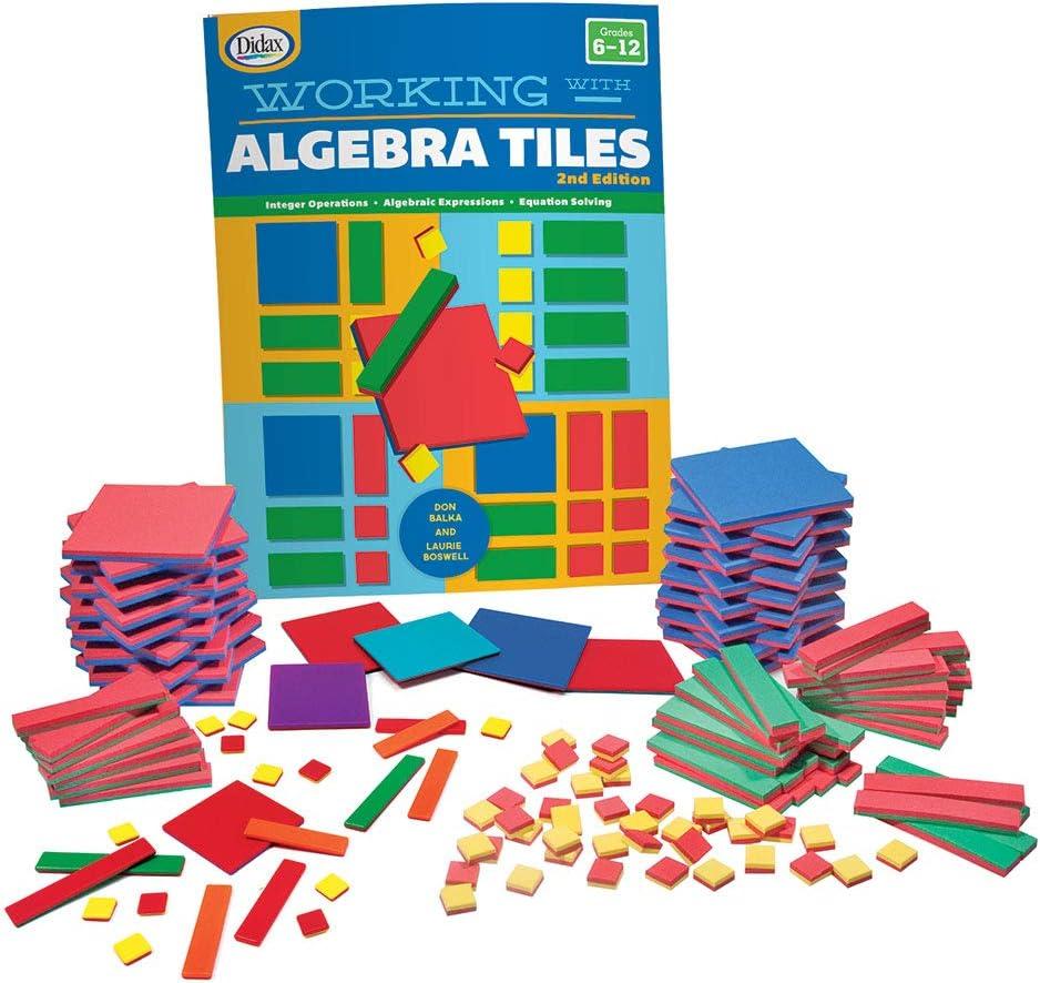 algebra tiles complete set math manipultaive for high school