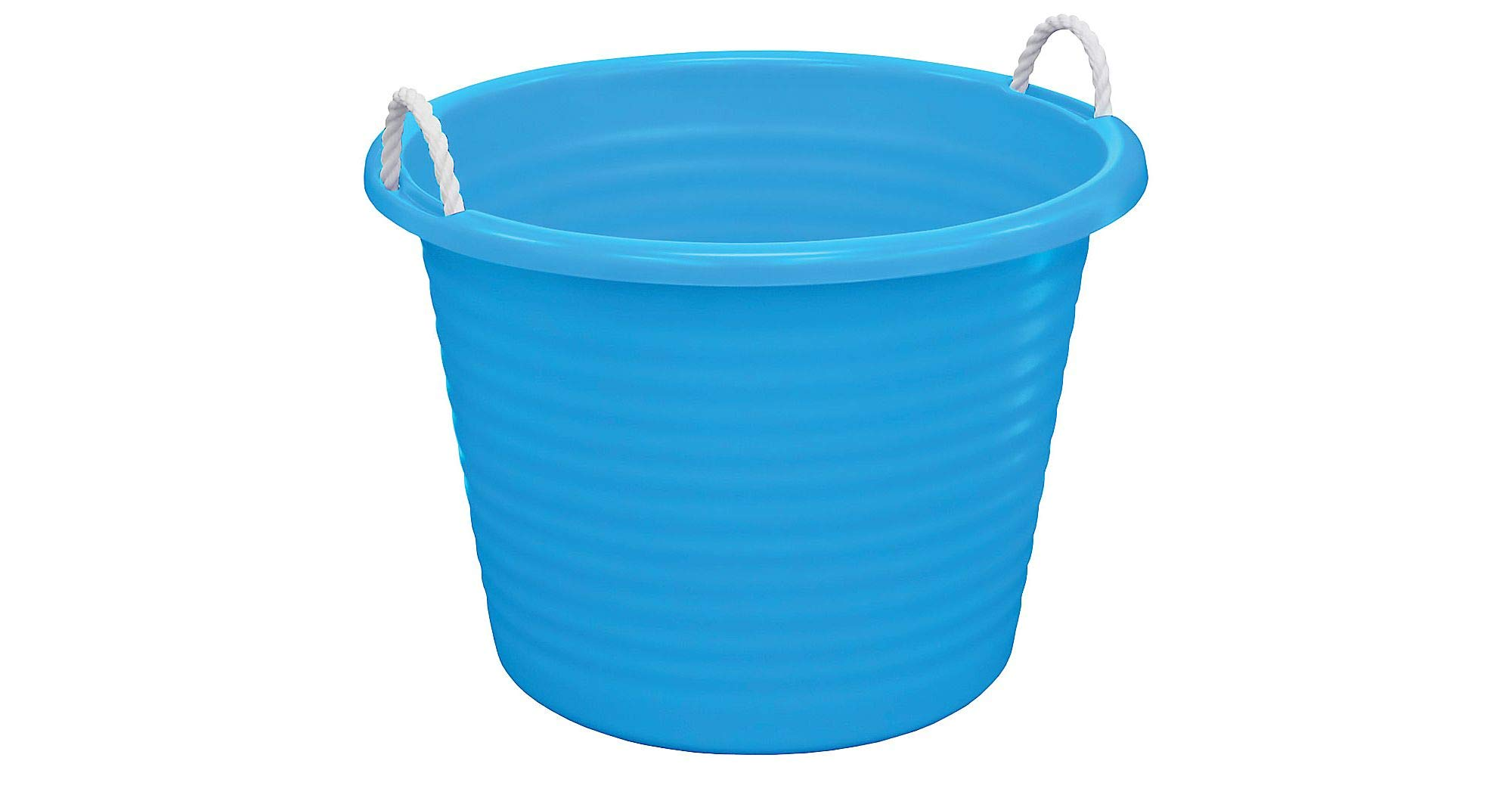 United Solutions Blue Plastic Tub with Rope Handles, 17gal, 22'' dia. x 16'' H
