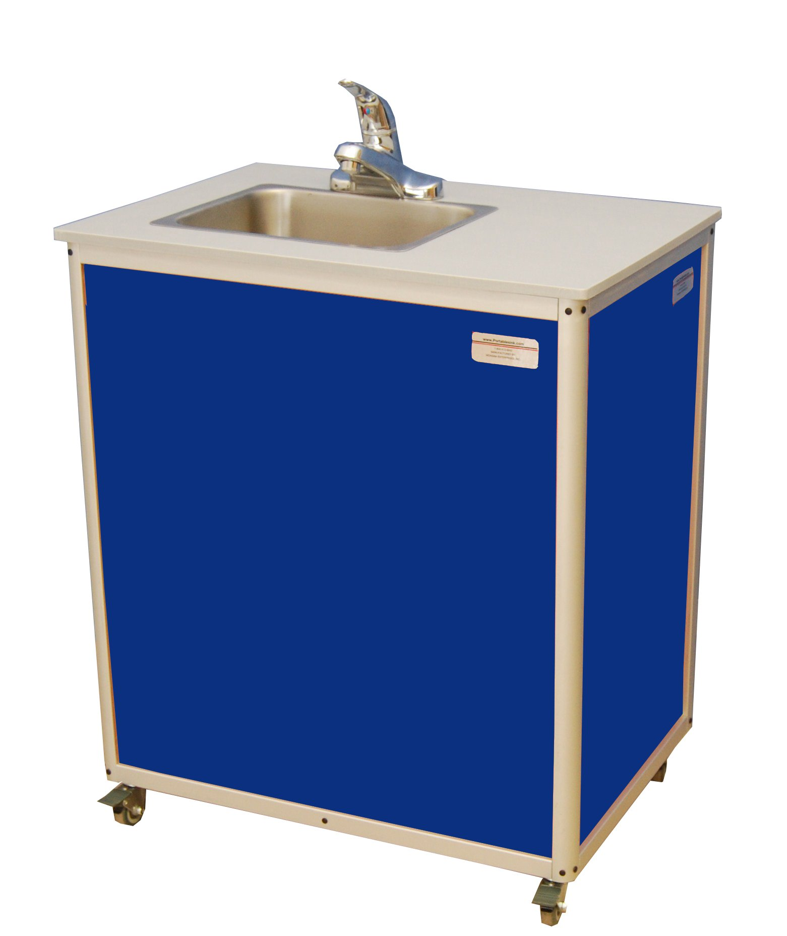 Monsam PSE-2007 Blue Preschool and Childcare Single Basin Portable Sink, 32'' Length x 18'' Width x 30-1/4'' Height