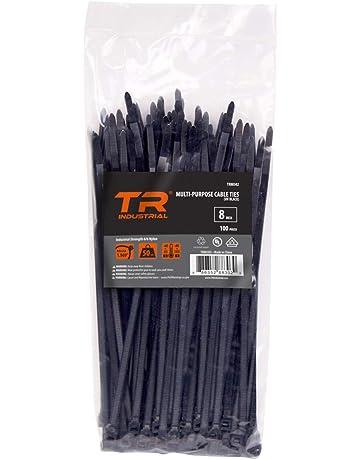 """TR Industrial TR88302 Multi-Purpose Cable Tie (100 Piece), 8"""", Black"""