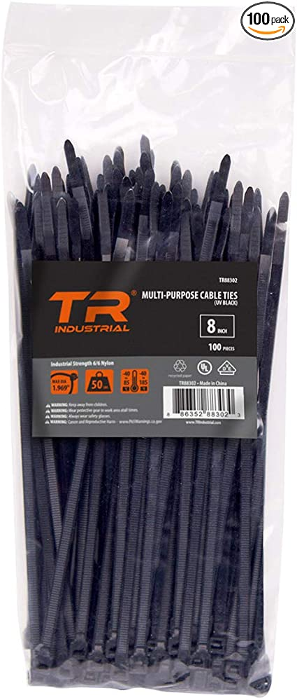 Cable Ties Industrial Quality 12,6x225 mm in black 50 Piece