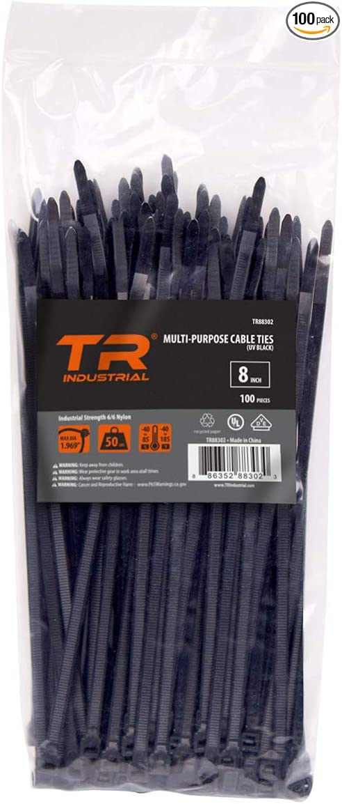Bag of 100 Write On 3 Inch Cable Tie Wraps Black
