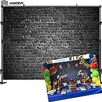 Maijoeyy Brick Wall Photography Backdrop 7x5t Black Brick Photo Backdrop Background Brick Backdrops for Photography Birthday Party Decoration Backdrop for Pictures Photography Props