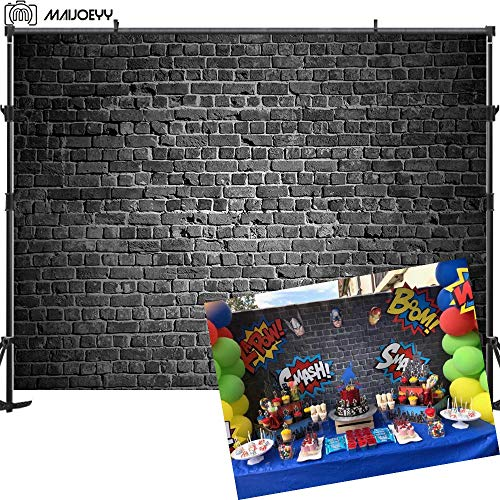 Maijoeyy Brick Wall Photography Backdrop 7x5t Black Brick Photo Backdrop Background Brick Backdrops for Photography Birthday Party Decoration Backdrop for Pictures Photography Props