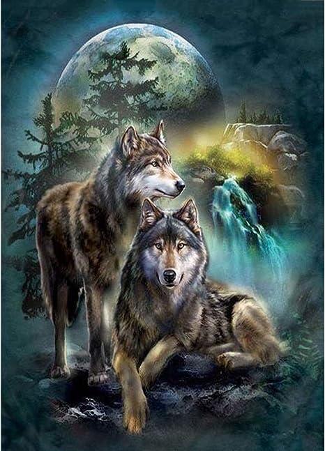 Diamond Painting 5D DIY Wolf Decor Home Embroidery Cross Stitch Rhinestone