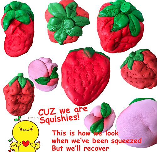 LimBridge Jumbo Squishies Strawberry & Peach Squishy Fidget Toys Smell Good Slow Rising 2 Pack for Kids Girls Photo #6