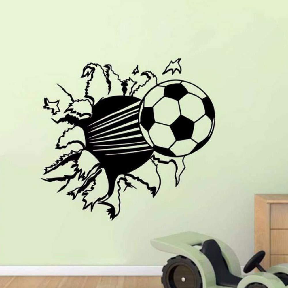 Pbldb 55X44 Cm Balón De Fútbol De Fútbol Vinilo Etiqueta De La ...