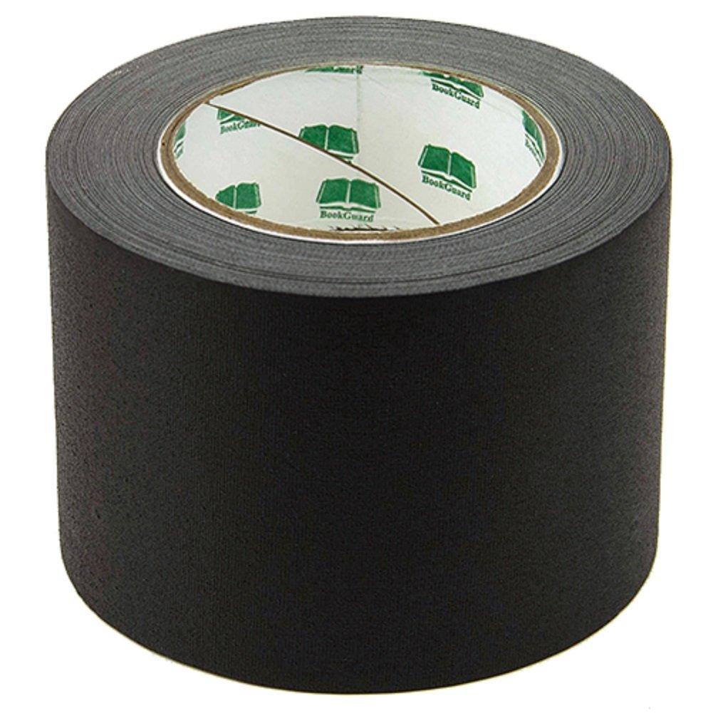 BookGuard Premium Cloth Book Binding Repair Tape 4''W x 30yd Roll (Black)