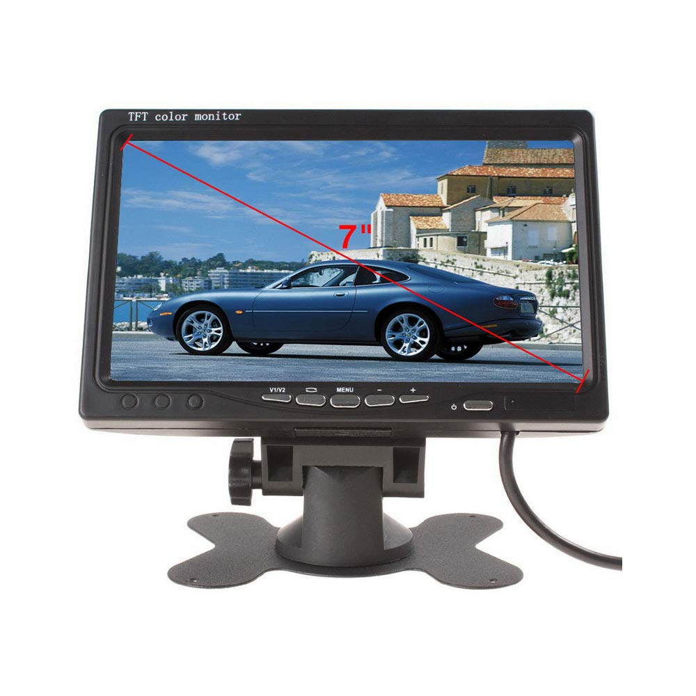 New Truck Car Bus Head 7 Inch TFT LCD Bracket Desktop Display Monitor Monitor Back LCD Screen Preferred Support Multi Language VIGORWORK