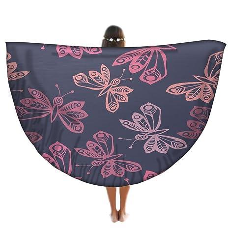 Mantas mariposas redondo Mandala tapiz, Hippie Hippy estilo ...