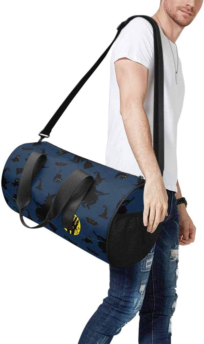 INTERESTPRINT Halloween Witch Bat Ghost Adults Travel Tote Duffel Bag Carry on