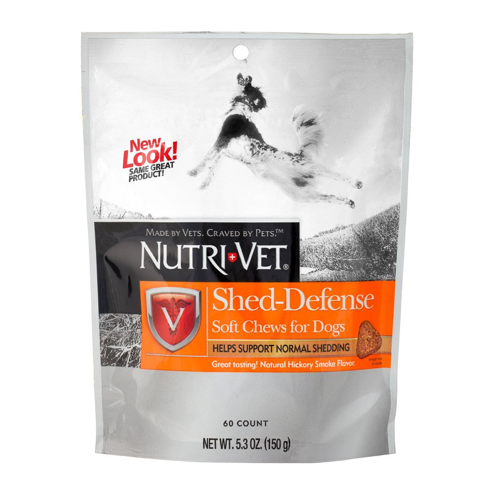 amazon com nutri vet shed defense soft chews for dogs 5 3 ounce