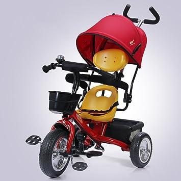 DACHUI Rueda de burbuja, niño triciclo, bicicleta, carrito de bebé, niño bicicleta, carro del bebé, Ruedas inflables (Color : rojo): Amazon.es: Deportes y ...