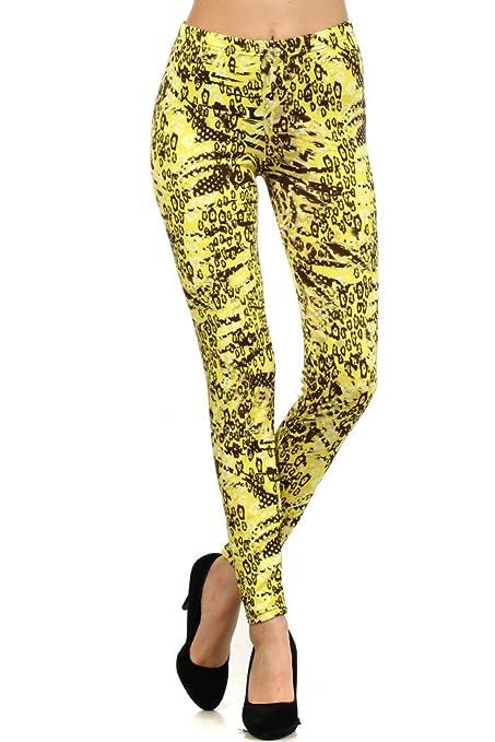 Yelete Women's Printed Leggings cute leggings - clothes under ten dollars