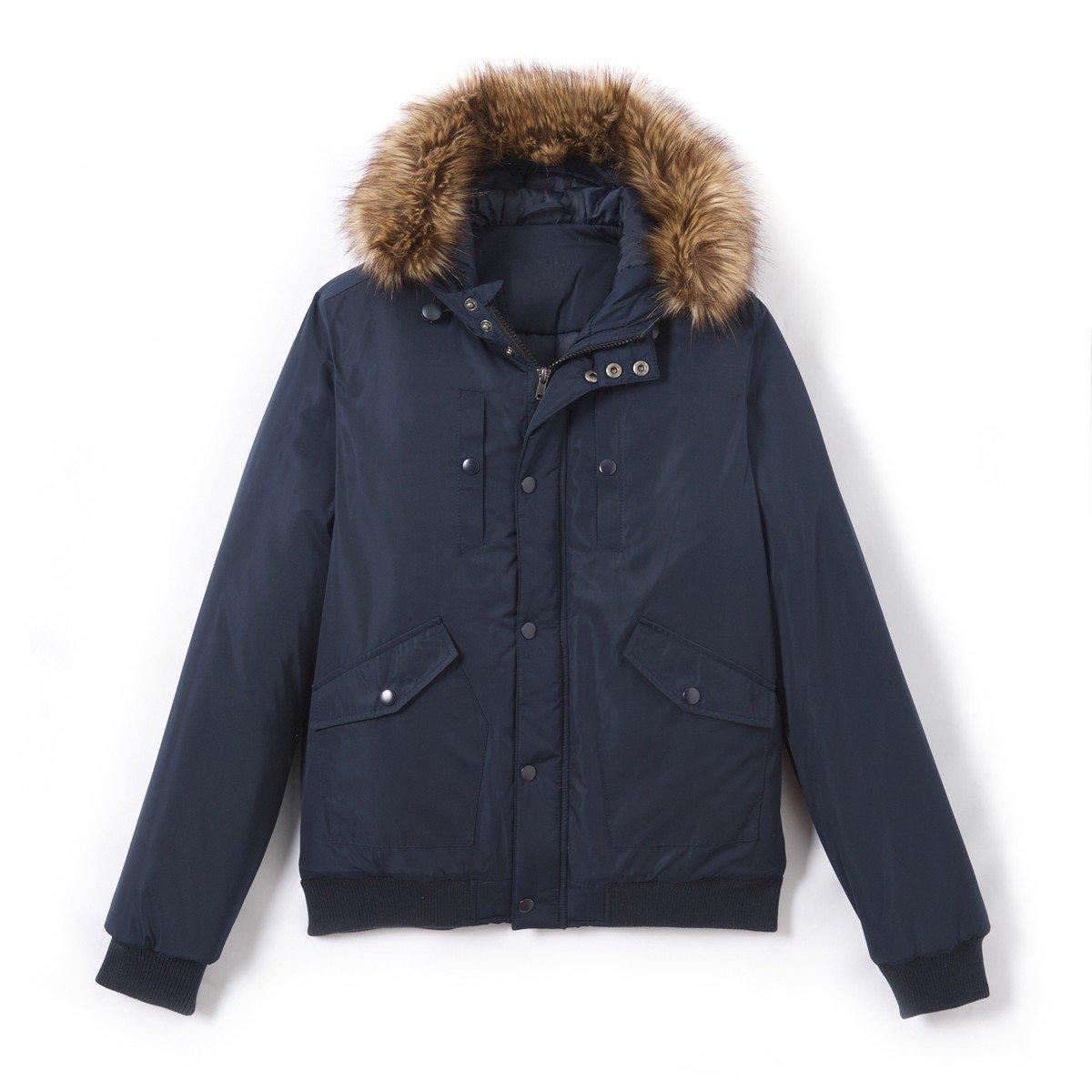 10-16 Years La Redoute Collections Big Boys Hooded Bomber Jacket