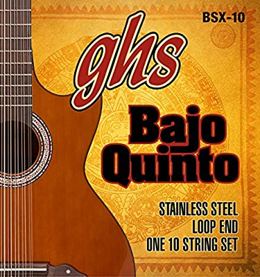 GHS Strings BSX-10 STAINLESS STEEL BAJO QUINTO Strings, Loop End
