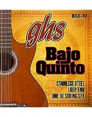 GHS Strings GHS BAJO QUINTO Cuerdas de acero inoxidable - Extremo de bucle (BSX-10)