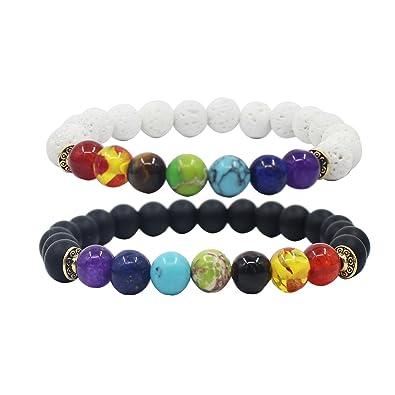 dcb86ccf359ff UEUC King & Queen Couronne Couple Bracelets Son et Son amitié 8mm Bracelet  Perles