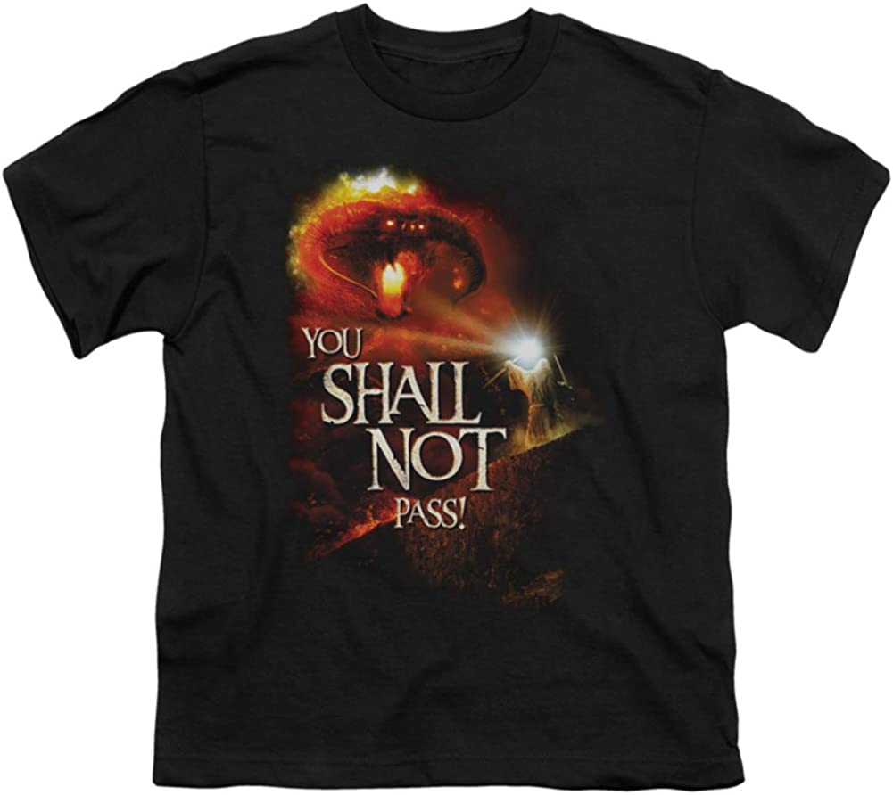 You Shall Not Pass Kids T-Shirt Size YL Youth Lord of the Rings