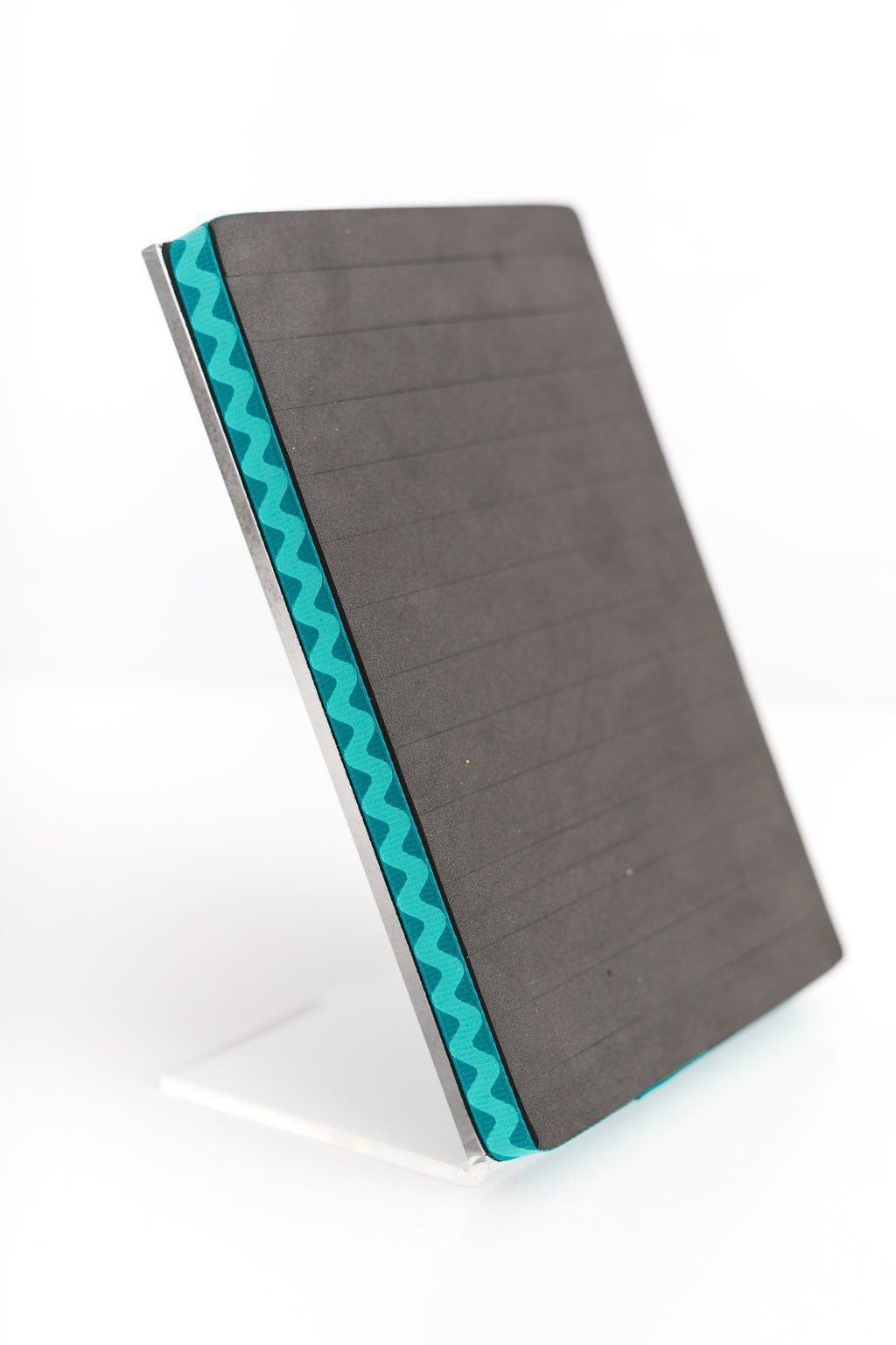 Stud & Hook Earring Holder - Turquoise Rick-Rack Design Ribbon, 5x7 Jewelry Display - Keep Earring Backs ON! by Never Lost Earrings