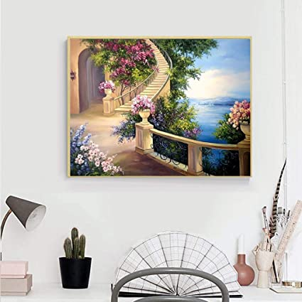 Allywit New Full Drill Diamond Painting 5D DIY Rhinestone Embroidery Arts Craft Paint Home Decor