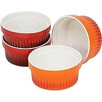 COM-FOUR® Bols à ailettes de ragoût, plat à gratin, plats à tarte, bols à crème brulée de différentes couleurs et tailles