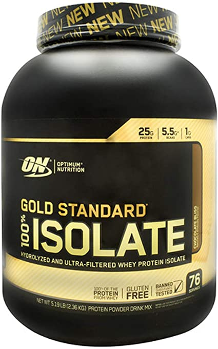 Amazon Com Optimum Nutrition Gold Standard 100 Isolate 3 Lb Tub 2019 44 Servings New Hydrolyzed And Ultra Filtered Premium Isolate Protein 5 Lb Chocolate Bliss Health Personal Care