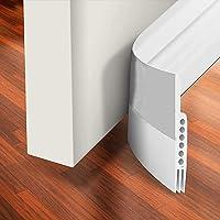 H HOME-MART Door Draft Stopper Under Door Seal for Exterior/Interior Doors, Strong Adhesive Door Sweep Soundproof…