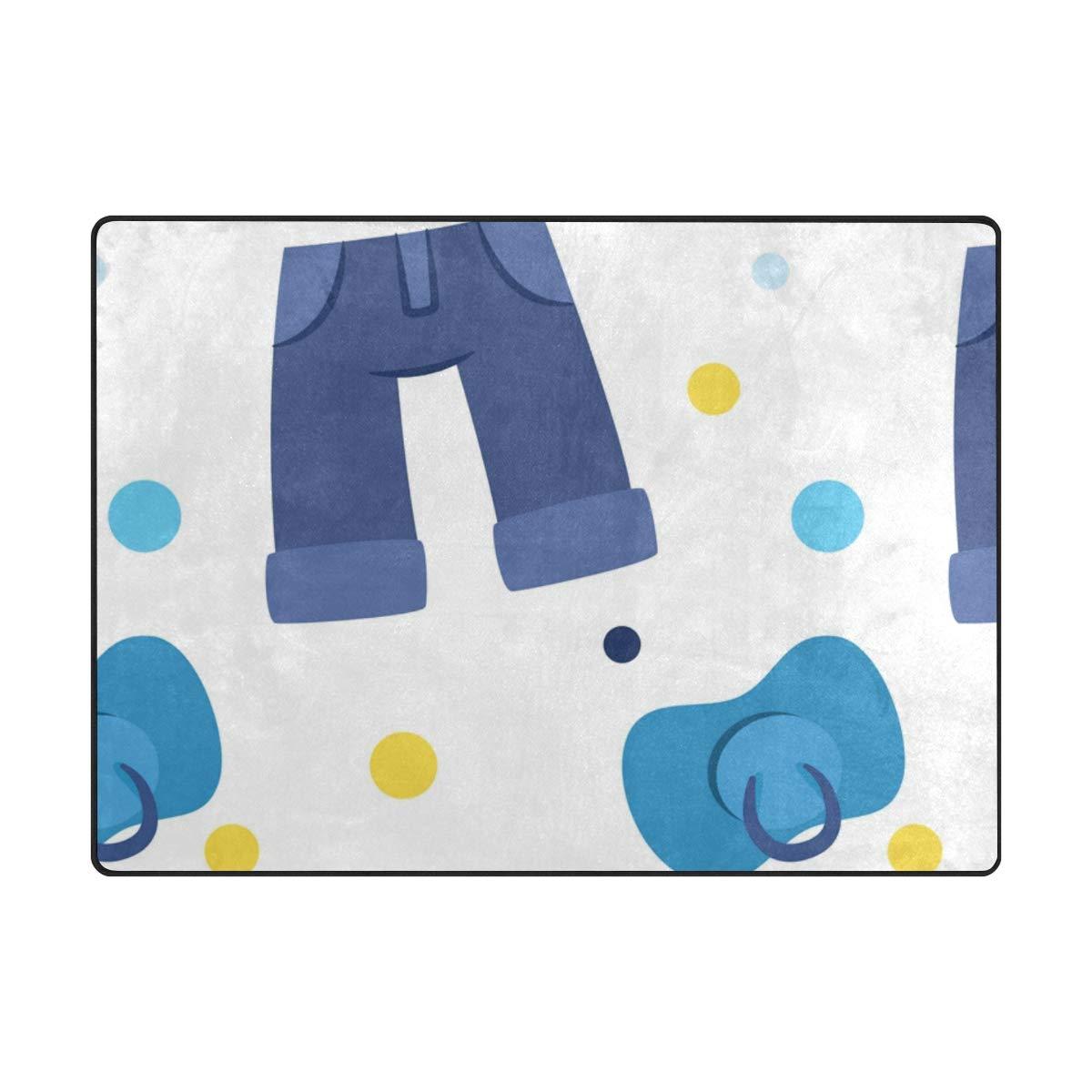 63 x 48 inch DEZIRO Baby Nipple and Pants Polyester Doormat Area Rug Carpet Entry Way Floor Mats shoes Scraper Home Dec Anti-Slip Washable