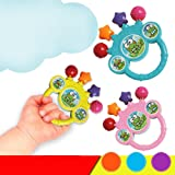 JUYIN Plastic Shake Toy Educational Tambourine Handbell Baby Jingle Rattle Bell,Grab and Spin Rattle for Kids Baby