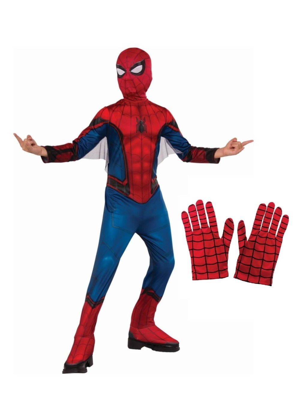 Little Boys' Spiderman Homecoming Costume and Gloves Gift Set
