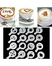Juego de 16plantillas para la decoración del café, capuccino,