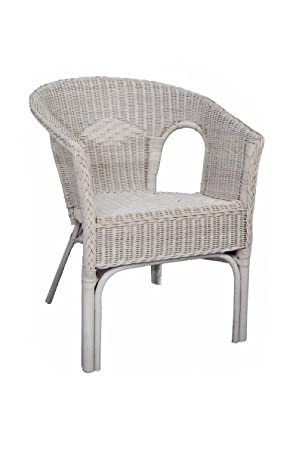 Rattan Chair In White