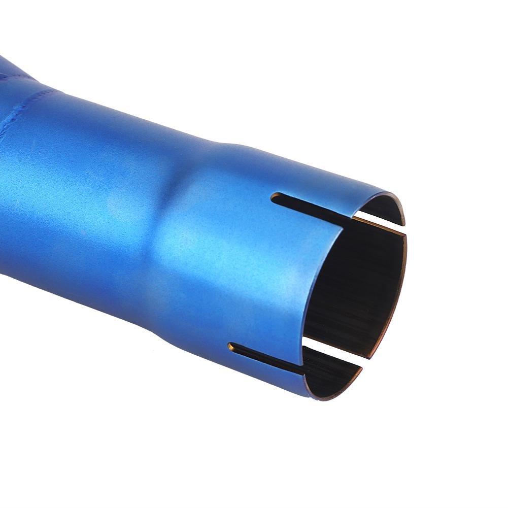 Universale Tubo di scarico del silenziatore di scarico Inossidabile Lato destro per Motociclo Mezzo blu