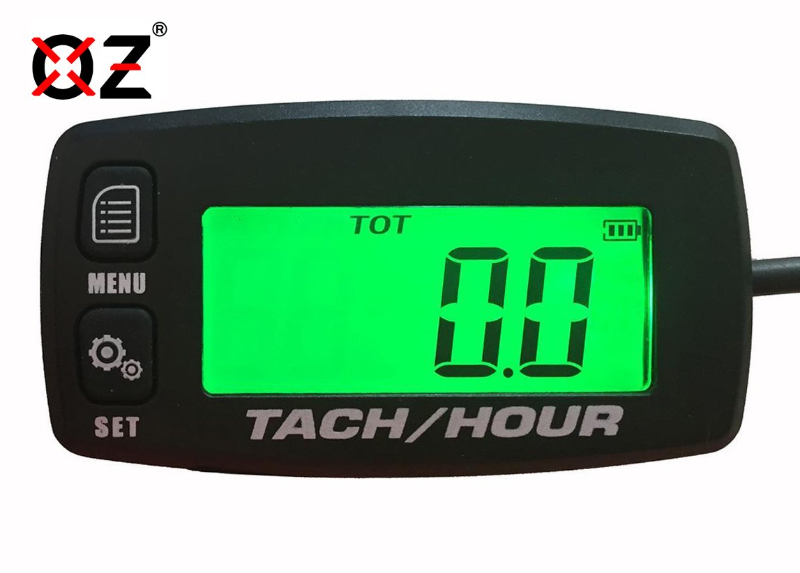 OZ-USA Tach Hour Meter Tachometer RPM Backlit Display Motorcycle ATV Dirtbike Buggy Outboard mototcycle Boat Works with All Gas Powered Engines OZ-USA® T-HM