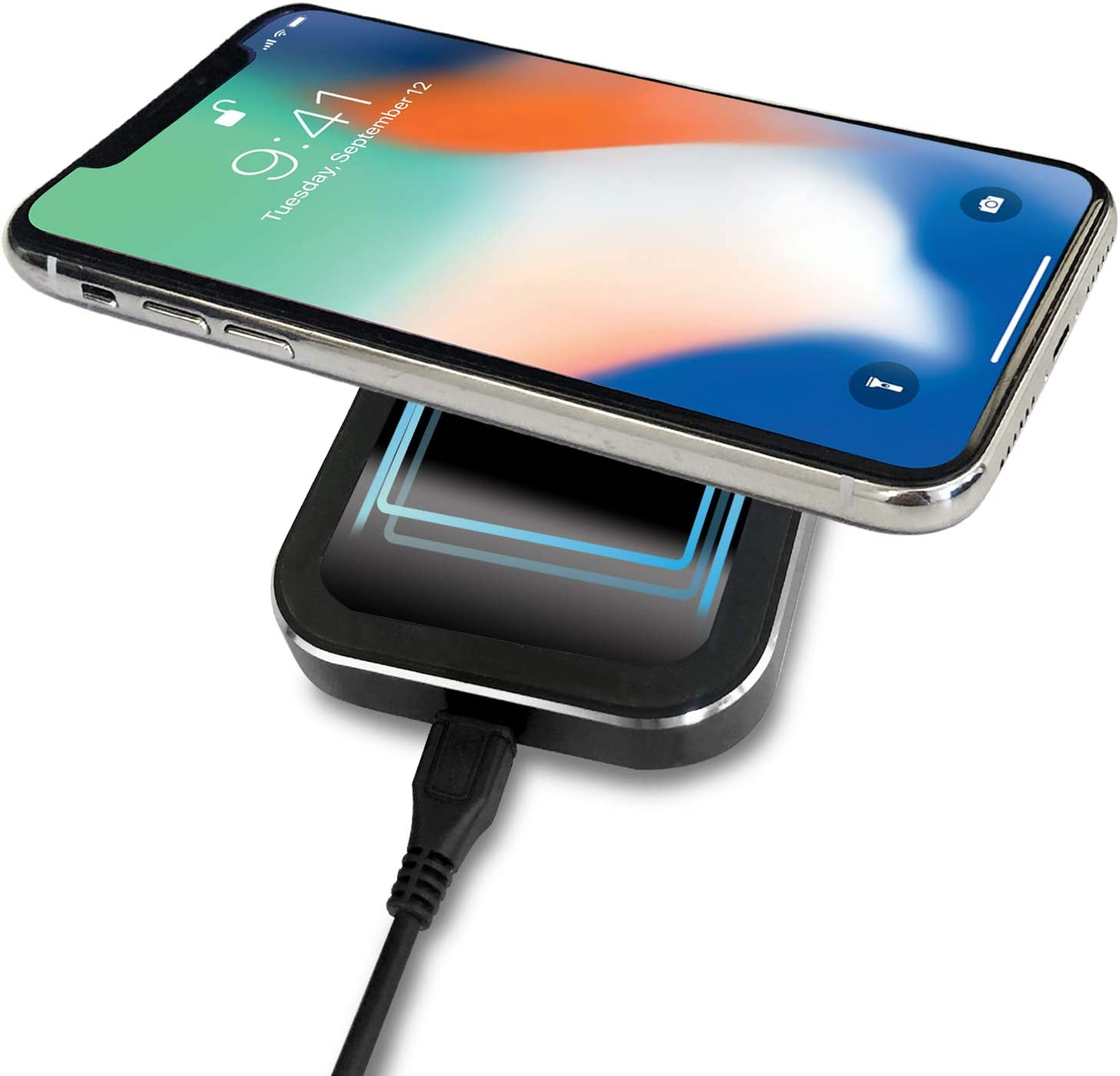 Black Samsung Galaxy S10+//S9//Note9 and More ebulous Car Wireless Charger Mounts Portable Cordless Car Wireless Charging Pad Stand for iPhone XS//XR//Max//X//8//8 Plus All Qi-Enabled Devices