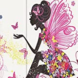 Fire HD 10 Case, Dteck Ultra Slim PU Leather Trifold Stand Case with Auto Wake/ Sleep Function Cover for All-New Amazon Fire HD 10.1 inch Tablet (7th Generation, 2017 Release), Butterfly Girl