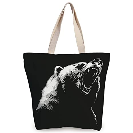 6f6b9d963e54 Amazon.com  Personalized Canvas Tote Bag
