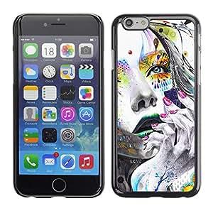 EJOY---Cubierta de la caja de protección la piel dura para el / Apple Iphone 6 Plus 5.5 / --Cara Chica colorido
