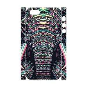 Aztec Elephant Custom 3D Case for Iphone 5,5S, 3D Personalized Aztec Elephant Case