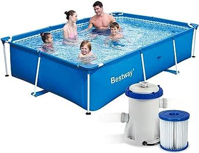 7 in1 Set Splash Frame Pool 259 x 170 x 61 cm Bestway 56403 con ...