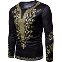 Totem Automne Hiver Africain Hommes Imprimer Manches Longues Dashiki O-Cou Sweat Top