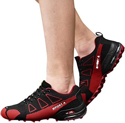 Clearance for Shoes,AIMTOPPY Autumn Fashion Mens Outdoor Hiking Sports Shoes Lightweight Breathable Lace-up Sneakers