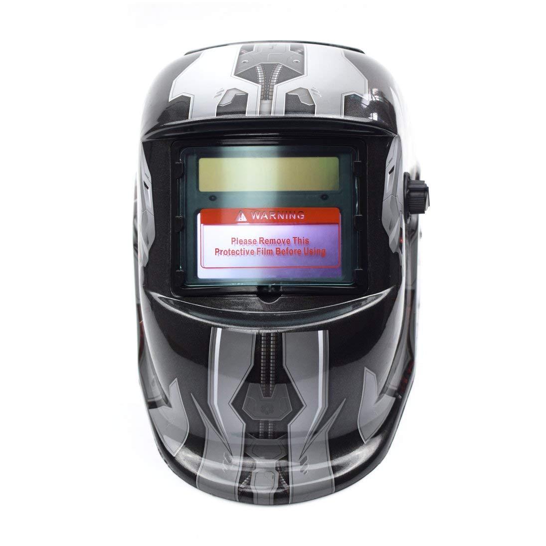 Solar Auto oscurecimiento TIG MIG MMA Soldadura Eléctrica Máscara Soldador Cap: Amazon.es: Bricolaje y herramientas
