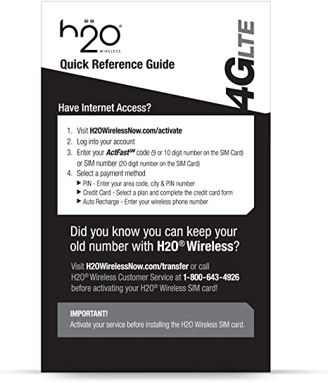 Amazon Com H2o Sim Card For H2o Wireless Retail Packaging Yellow Blackdiscontinued By Manufacturer