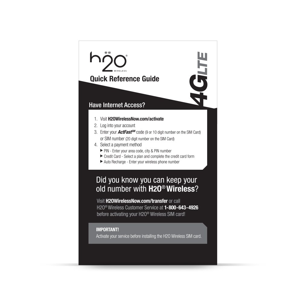 amazon com h2o 3 in 1 sim card cell phones accessories