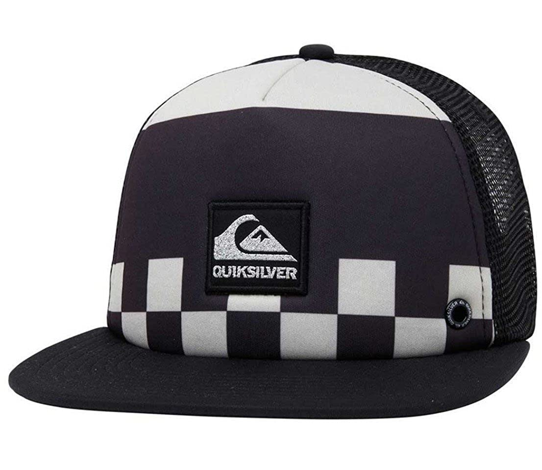 Black//Grey//Silver Boardies Everyday Trucker Style Hat Skateboarding Cap Quiksilver Surfing Checker