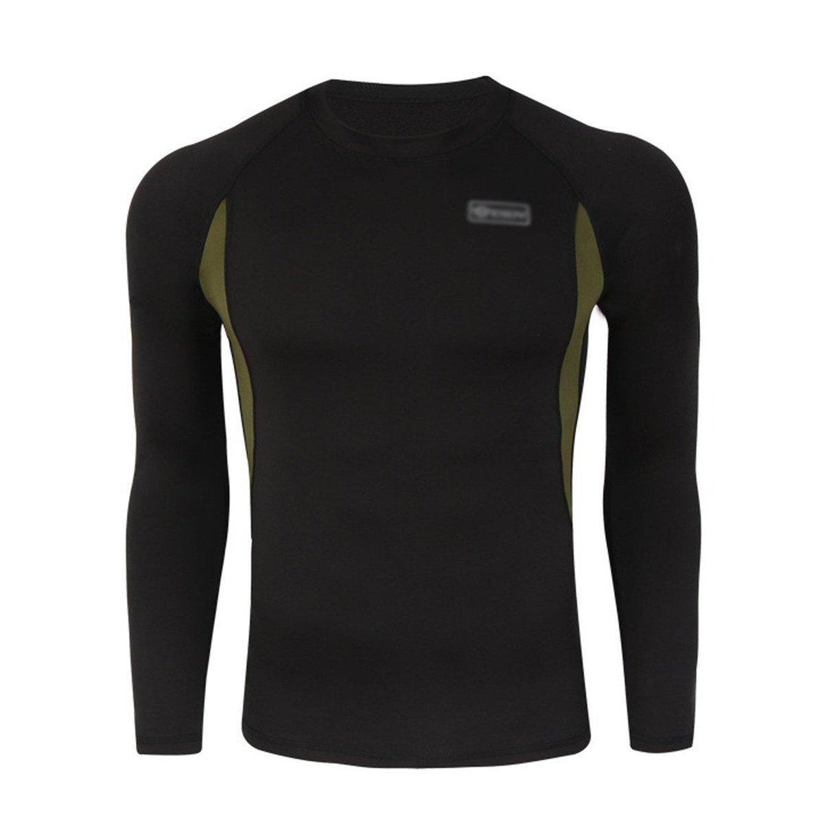 BLF - Conjunto de ropa interior caliente para el invierno, ropa térmica interior para el traje de esquí, manga larga y pantalón largo, color negro, ...